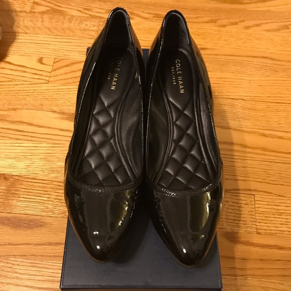 e5b114dc3963 Cole Haan Shoes - Cole Haan Black Patent Tali Luxe Wedge